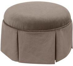 Millie Custom-Upholstered Vanity Stool - Round Vanity Stool - Upholstered Vanity Stool - Vanity Seat - Makeup Stool - Dressing Stool | HomeDecorators.com