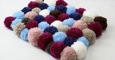 Alfombra de pompones de lana. ¡Es muy fácil!