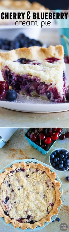 ... pies on Pinterest | Cream pies, Strawberry rhubarb pie and Slab pie