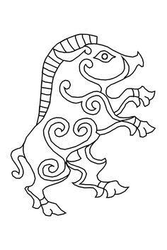 Norse Boar - a spirit animal Celtic Patterns, Celtic Designs, Viking Embroidery, Embroidery Patterns, Zentangle Patterns, Mandala Art, Norse Symbols, Mayan Symbols, Egyptian Symbols