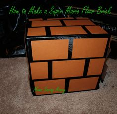 How to Make Super Mario Floor Blocks for an exciting Super Mario Birthday Party.