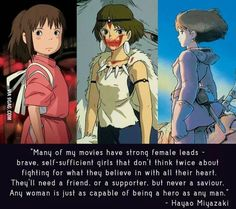 Respect! #StudioGhibli #girlpower  /  http://saltlakecomiccon.com/slcc-2015-tickets/?cc=Pinterest