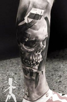 Realistic Skull Tattoo by Neon Judas | Tattoo No. 12091