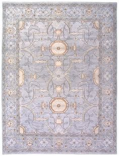 Size: x Construction: Hand Knotted. Colors: Grey & Off White. Sari Silk, Pakistan, Construction, Quilts, Wool, Blanket, Pearls, The Originals, Gallery