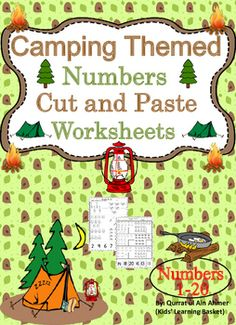 Camping Themed Numbers Cut and Paste Worksheets (1-20):This is a Camping Themed worksheets in which student can practice their number recognition from 1-20. This activity will allow students to practice number recognition, counting and the fine motor skills of cutting and pasting.* 4 worksheets are included.* Numbers 1 to 20.For Spring Themed Number Cut and Paste:https://www.teacherspayteachers.com/Product/Spring-Themed-Numbers-Cut-and-Paste-Worksheets-1-20For Mother's Day Numbers Cut and…