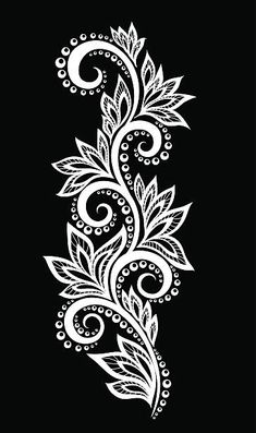 Stock vector of 'beautiful black and white seamless pattern in dahlia. background for design for greeting card and invitation of the wedding, birthday, Valentine& Day, mother& day and other seasonal holiday' Stencil Patterns, Stencil Designs, Henna Designs, Lace Embroidery, Hand Embroidery Designs, Embroidery Patterns, Lace Painting, Bottle Painting, Art Drawings Sketches Simple