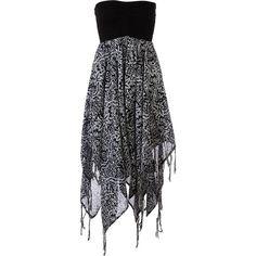 Billabong Good Love Dress ($24) ❤ liked on Polyvore featuring dresses, short dresses, black, vestidos, smocked dresses, mini evening dresses, holiday cocktail dresses and holiday dresses