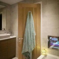 One Pot Our.mortgaged.home On Instgram Small Bathroom Idea Inspo  Inspiration Bathroom Tv