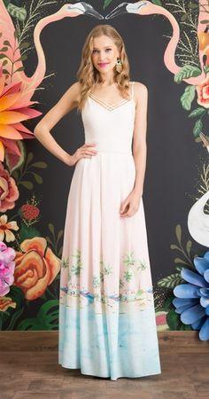 Vestido Longo Paraíso Tropical