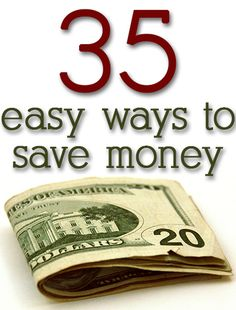 Easy ways to save money on EVERYTHING. Great ideas! I actually read these and it looks like a lovely blog, i like her tips. @Megan Ward Ward Ward Ward Bradley