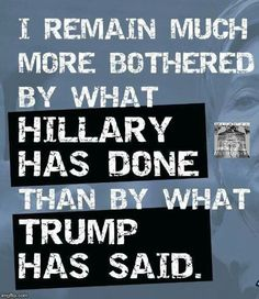 So True!!  Hillary's record is insane!  I cannot believe anyone is voting for her!