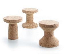 KOROK = Cork  --- Side-tables and stools from Vitra