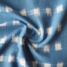 Denim Blue And White Cotton Ikat Fabric - Guthrie & Ghani Silver Color Palette, Blue And Silver, Blue And White, Dressmaking Fabric, Ikat Fabric, Fabric Shop, White Cotton, Blue Denim, Sewing Projects