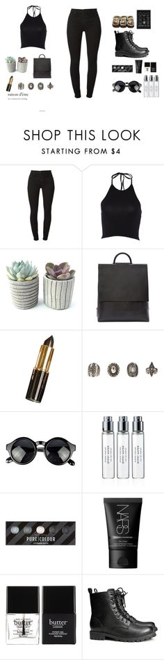 """""""2333"""" by tiffanyelinor ❤ liked on Polyvore featuring 7 For All Mankind, Building Block, Relic, Byredo, NARS Cosmetics, Butter London, H&M and Jura"""