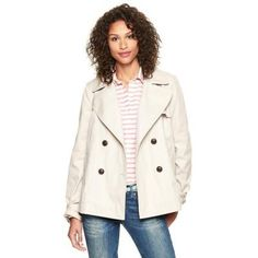 $98, Short Trench by Gap. Sold by Gap. Click for more info: http://lookastic.com/women/shop_items/86931/redirect