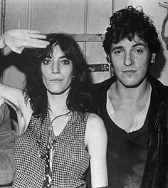 Patti Smith & Bruce Springsteen.  Well, wasn't he just the fuckin' hunkiest little GregRagan-like punk, himself? Nice !!  ____  oh Bruce. What happened?