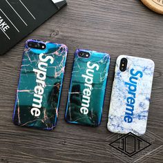 $6.99 - Fashion Blu-Ray Supreme Marble Soft Phone Case Cover For Iphone 7 6 6S 8 Plus X #ebay #Electronics
