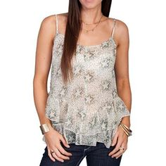Scully Women's Sheer Star Tank Top