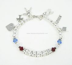 Deployment Charm Bracelet®  Sterling Silver with Swarovski Crystals and Sterling Silver Charms starting at $59.00.