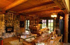 Cottage Log Interior