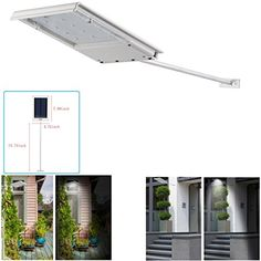 LEAGY (TM) Waterproof Solar Powered LED Lights Security Night Light Wall Lamp Lighting for Outoor Barn Backyard Fence Garden Garage Deck Posts Trees Steps / All in One Mini 64x Solar Wall Light / Security Light / Signage Light for Outdoor, Perimeter, Fence, Garden, Yard, Signage Lighting. Bright Outdoor LED Solar Spotlight / Solar Powered Outdoor Light for Landscape, Garden, Driveway, Pathway, Yard, Lawn, Etc./ Solar Energy Exterior Lighting; Auto-on At Night and Auto-off By Day / Installs…