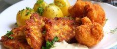 Smažený květák a květákové placičky Bbq Sandwich, Calories, Tandoori Chicken, Shanghai, Restaurant, Meat, Ethnic Recipes, Food, Meatball