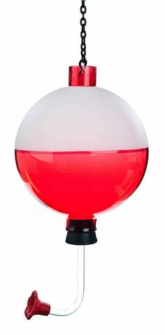 This decorative, easy to clean red and white fishing bobber hummingbird feeder is perfect for all the hungry hummingbirds at your lakehouse. It comes with a chain for hanging and a nectar recipe. Fish Cleaning Table, Fish Cleaning Station, Nectar Recipe, Humming Bird Feeders, Lake Cottage, Lake Life, Bird Houses, Hummingbird, Boyfriend Gifts