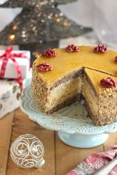 Juditka konyhája: ~ NARANCSOS DIÓTORTA ~ Pastry Recipes, Dessert Recipes, Poppy Cake, Cake & Co, Hungarian Recipes, Pastry Cake, Confectionery, Cakes And More, Cake Cookies