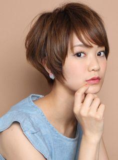 小顔スタイル!!大人のガーリーショート|髪型・ヘアスタイル・ヘアカタログ|ビューティーナビ