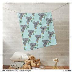 Cute Koala Bear Baby Blanket