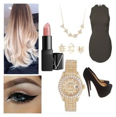 """""""Untitled #110"""" by tumblrsaved2 on Polyvore featuring Christian Louboutin, Amorium, Charlotte Russe, Rolex, NARS Cosmetics, women's clothing, women, female, woman and misses"""