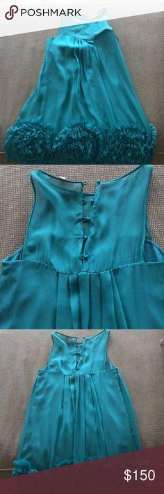 Rebecca Taylor Size 4 Teal Dress Rebecca Taylor Size 4 Teal Dress only worn once. Rebecca Taylor Dresses