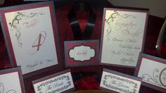 Red and Black Wedding Signage by DGCreationsByLauri on Etsy, $255.00