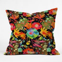 Betsy Olmsted Garden Stain In Night Throw Pillow | DENY Designs Home Accessories