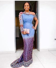 Aso ebi lace gown styles beautiful Aso ebi Long gown Lace for wedding Latest Lace Styles, Latest Aso Ebi Styles, Trendy Ankara Styles, Ankara Gown Styles, Ankara Dress, Aso Ebi Lace Styles, Lace Gown Styles, Dress Styles, Lace Gowns