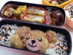 Twitter from @riekorin おはよ〜(^O^) 今日のお弁当は、ホワホワくまさん♪ #kyaraben #obentoart