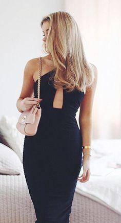Lovisa Barkman long black cocktail dress