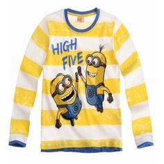 Boys Minions Long Sleeve T Shirt