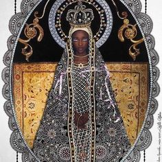 Repost: Roberto Custodio is a self taught artist from Sao Paulo Brazil. His complex mixed-media collage works often feature saints religious icons gods and goddesses. While his intricate pieces convey a sort of deference to his subjects on the part of the artist Custodio himself doesnt follow any particular religion. Custodio is best known for his depictions of Hindu religious figures but his body of work includes icons from all over the world including his native Brazil.  Our Lady of…