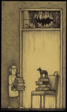 fer1972:   Horror Books by John Kenn (Artist on tumblr)  DON'T ASK ME WHY I LIKE THIS.  I JUST DO