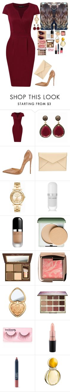 """Untitled #1834"" by azra-99 on Polyvore featuring Blue Candy Jewelry, Christian Louboutin, Rebecca Minkoff, Michael Kors, Marc Jacobs, Clinique, Too Faced Cosmetics, Hourglass Cosmetics, tarte and Forever 21"