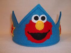 Elmo Party crown for the birthday boy