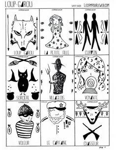 Jeu de l 39 oie jeux pinterest board games games et - Loup garou a colorier ...
