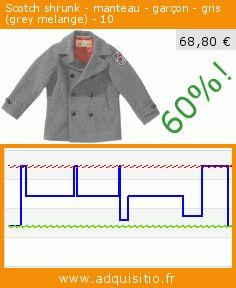 Scotch shrunk - manteau - garçon - gris (grey melange) - 10 (Vêtements). Réduction de 60%! Prix actuel 68,80 €, l'ancien prix était de 172,00 €. https://www.adquisitio.fr/scotch-shrunk/manteau-gar%C3%A7on-gris-grey-3