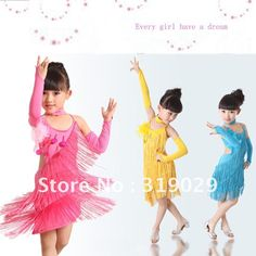 Aliexpress.com : Buy high quality girls latin fringe dress dancewear children dresses lace tassels corduroy wholesale 6sets/lot from Reliable girl dress suppliers on Children Apparel LTD