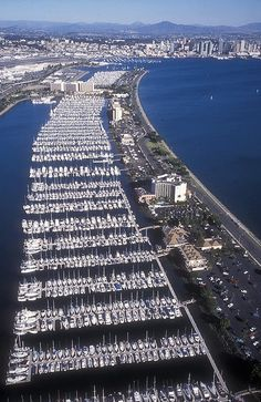 One of the largest marinas in the world Shelter Island, San Diego, CA.  For the rare moments when you are NOT sailing.