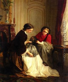 The Lace Makers - Jean-Baptiste Trayer