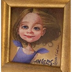 Angel Girl - Mini Giclée - wall art Mini Angel, Angels, Wall Art, Frame, Home Decor, Homemade Home Decor, Interior Design, Frames, Home Interiors