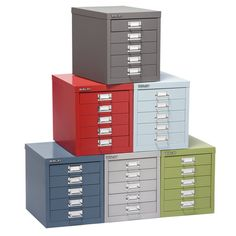 The Container Store > Bisley® 5-Drawer Cabinet. I like the yellow one, but maybe the green? Or the orange. hmmmm.