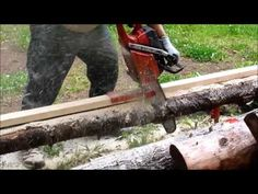 Beam Machine , quick install, First cut of rough lumber, How to make lumber Aqua Farm, Chainsaw Mill, Carpentry Tools, Beams, Outdoor Power Equipment, Garden Tools, Woodworking, Milling, Logs